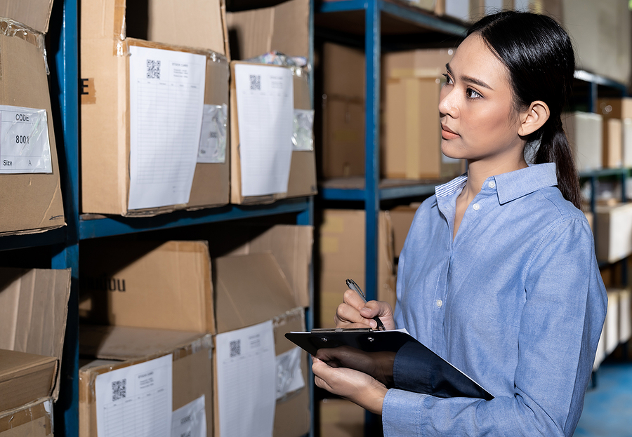 Woman working in a customs brokerage firm